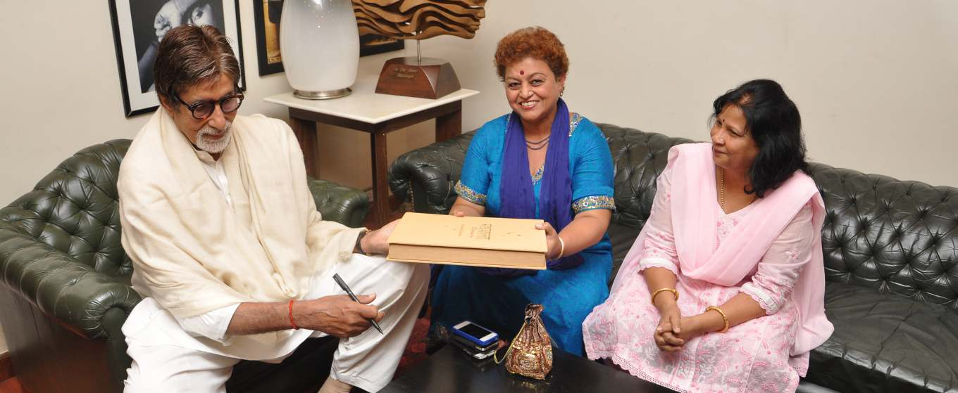 Dr. Asha Pande with Renowned Amitabh Bacchan